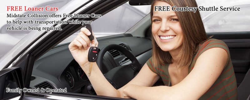 Midstate Collision Repair Services in Freeland, MI Auto Collision Repair in Freeland: FREE LOANERS